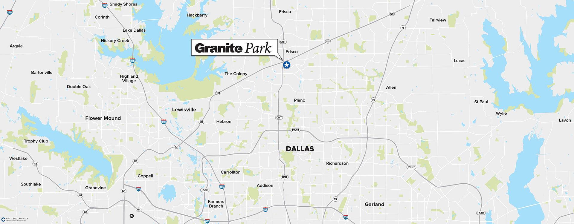 Granite Park One location map